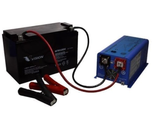 How do I hook up the inverter to my battery(s)?