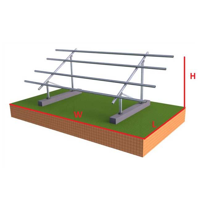 SOLAR RACK GROUND MOUNT FOR 250-330 WATT SOLAR PANELS - Fits 6