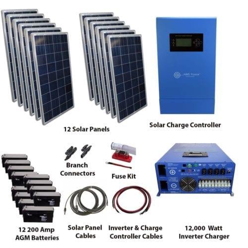 120 WATT SOLAR WITH 400 WATT POWER INVERTER KIT OFF GRID