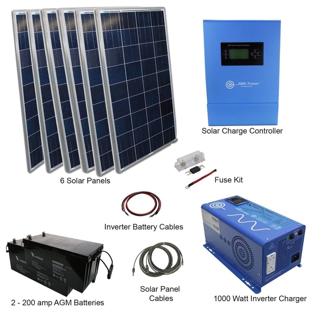 720 Watt Solar 1000 Power Inverter Charger Kit Small Wiring Diagram Converters Accessories
