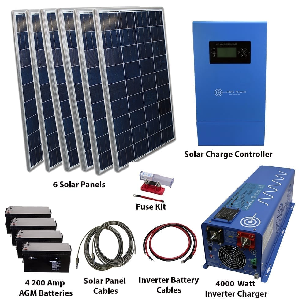 720 Watt Solar 4000 Watt Pure Sine Power Inverter Charger