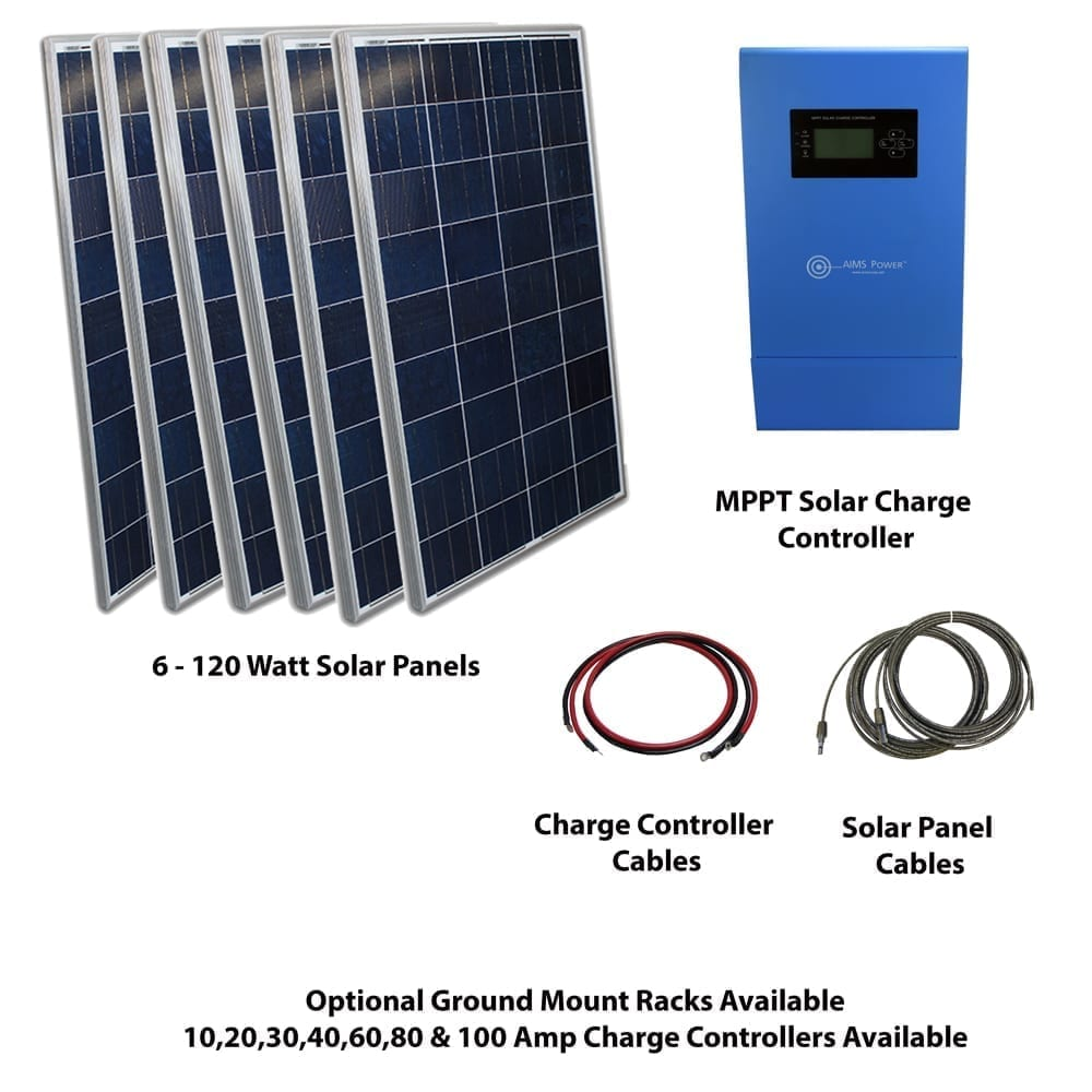 720 WATT SOLAR PANELS WITH MPPT CHARGE CONTROLLER KIT