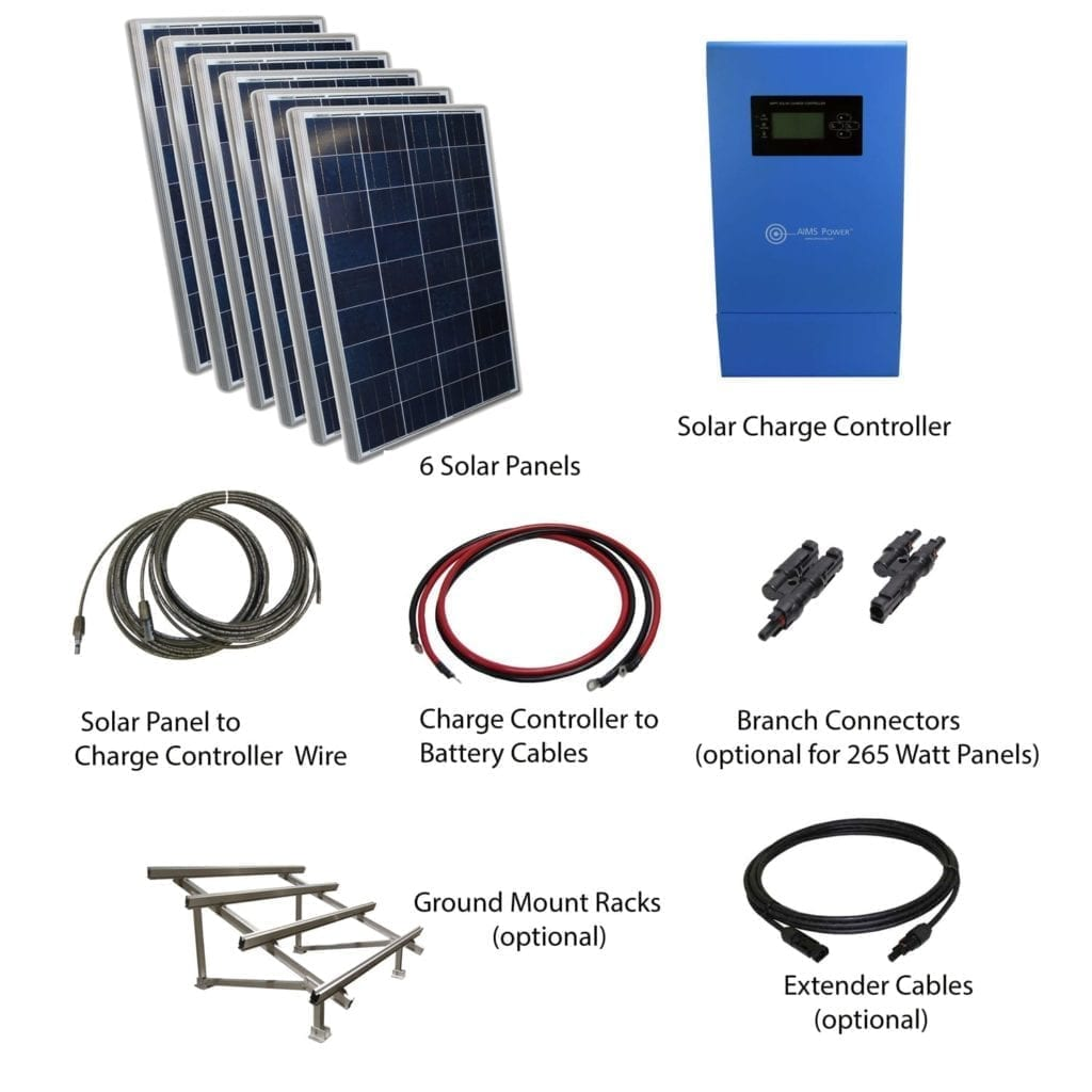 1650 WATT SOLAR PANELS WITH MPPT CHARGE CONTROLLER BASE KIT