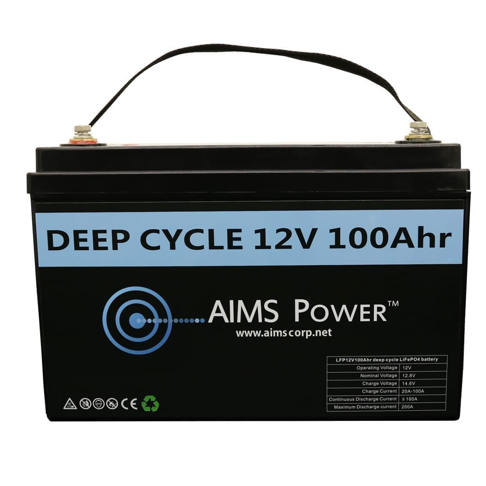 Aims Lithium Battery 12v 100ah Lifepo4 The Inverter Store
