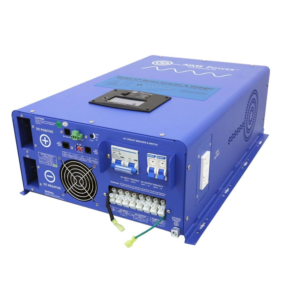 10000 Watt Pure Sine Inverter Charger 48vdc 240vac Input To 120 12 Vdc Vac Circuit Converters Accessories