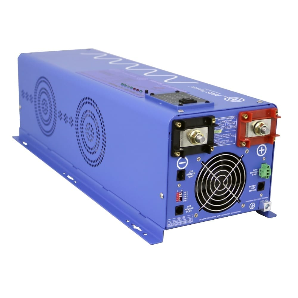 4000 Watt Pure Sine Inverter Charger 120 240 Vac 50 Or 60hz 12 Vdc To Circuit Converters Accessories
